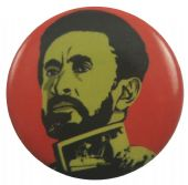 Haile Selassie - 'Red & Yellow' Button Badge